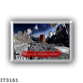 IT3161 Europe - Italy - Dolomites - Group Pale di San Martino - alpine hut Bivacco Renato Reali - locality Forcella Marmor - sea