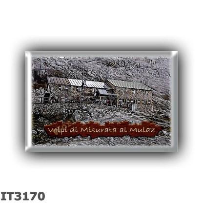 IT3170 Europe - Italy - Dolomites - Group Pale di San Martino - alpine hut Volpi al Mulaz - locality Regione Mulaz - seats 110 -