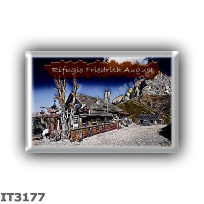 IT3177 Europe - Italy - Dolomites - Group Sassolungo - alpine hut Friedrich August - locality Gabia - seats 20 - altitude meters