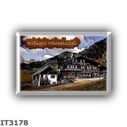IT3178 Europe - Italy - Dolomites - Group Sassolungo - alpine hut Micheluzzi - locality Val Duron - seats 20 - altitude meters 1