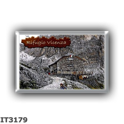 IT3179 Europe - Italy - Dolomites - Group Sassolungo - alpine hut Rifugio Vicenza - locality Vallone del Sassolungo - seats 60 -