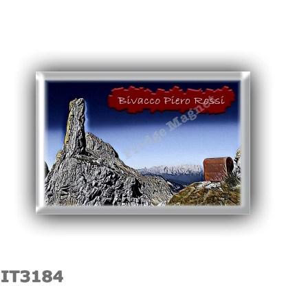 IT3184 Europe - Italy - Dolomites - Group Schiara - alpine hut Bivacco Piero Rossi - locality Val de Piero - seats 0 - altitude