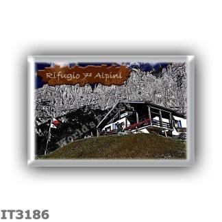 IT3186 Europe - Italy - Dolomites - Group Schiara - alpine hut Rifugio Settimo Alpini - locality Pis Pilon - seats 58 - altitude