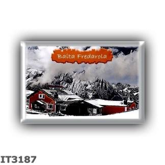 IT3187 Europe - Italy - Dolomites - Group Sella - alpine hut Baita Fredarola - locality Belvedere - seats 25 - altitude meters 2