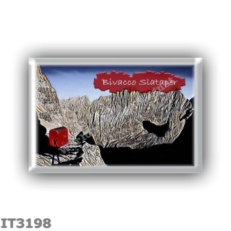IT3198 Europe - Italy - Dolomites - Group Sorapiss - alpine hut Bivacco Slataper - locality Alto Fond de Ruseco - seats 3 - alti