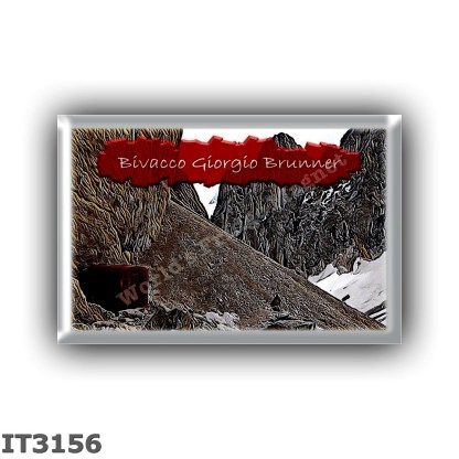 IT3156 Europe - Italy - Dolomites - Group Pale di San Martino - alpine hut Bivacco Giorgio Brunner - locality Val Strutt - seats