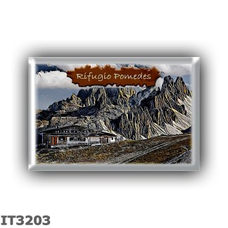 IT3203 Europe - Italy - Dolomites - Group Tofane - alpine hut Pomedes - locality Punta Anna - seats 31 - altitude meters 2303