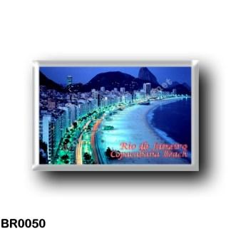 BR0050 America - Brazil - Rio de Janeiro - Copacabana beach by night