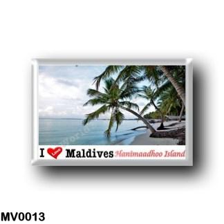 MV0013 Asia - Maldives - Hanimaadhoo Island, Haa Dhaalu Atoll - I Love