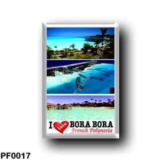 PF0017 Oceania - French Polynesia - Bora Bora - I Love