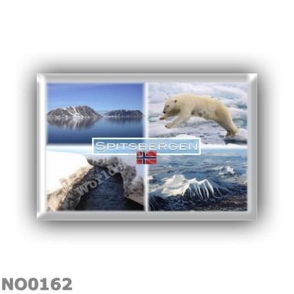 NO0162 Europe - Norway - Spitsbergen - Svalbard - Fjord - Polar Bear - Panorama - Mountains