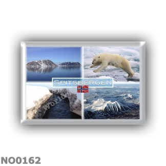 NO0162 Europe - Norway - Spitsbergen - Svalbard - Fjord - Polar Bear - Panorama - Mountains