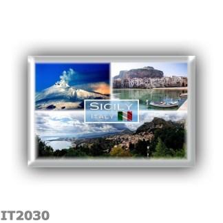 IT2030 Europe - Italy - Sicily - Etna Volcano - Cefalu - Taormina