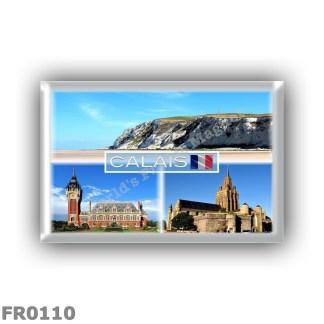 FR0110 Europe - France - Calais - Cap Blanc Nez - Hotel de Ville - Notre Dame de Calais