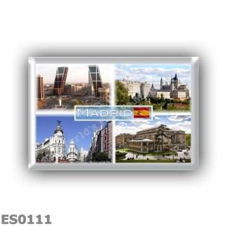 ES0111 Europe - Spain - Madrid - Puerta de Europa - plaza de Castilla - Royal Palace - Metropolis Building - Museo del Prado