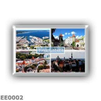 EE0002 Europe - Estonia - Tallin - Old City - Harbour - Viru Gate - Kiek in de Koki - Panorama