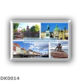 DK0014 Europe - Denmark - Copenhagen - Tivoli Garden - Amalienborg Countyard - Nyhavn - The little mermaid statue