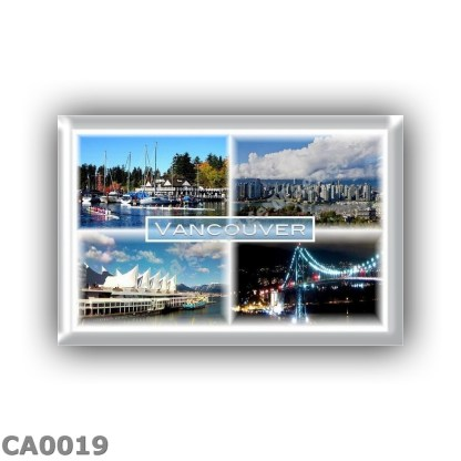 CA0019 - America - Canada - Vancouver - Stanley Park - Yaletown - Canada Place - Lions Gate Bridge at Night