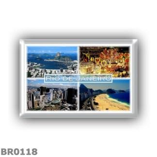 BR0118 - America - Brazil - Rio de Janeiro - Panorama - Botafogo beach - Carnival in Rio - Town Center - Copacabana