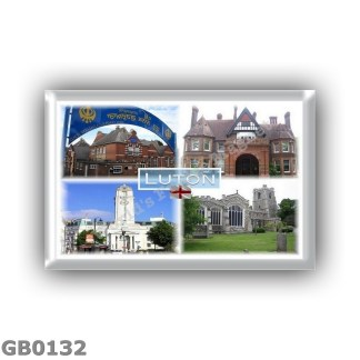 GB0132 - Europe - United Kingdom - England - Luton - Guru Nanak Gurdwara Sikh Temple - Wardown Park Museum - Town Hall - Saint M