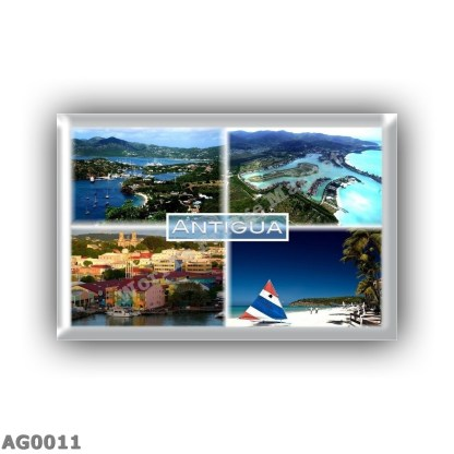 AG0011 America - Antigua - shirley heights blick - Jolly Harbor - Saint John - Dickinson bay beach - Sandals beach