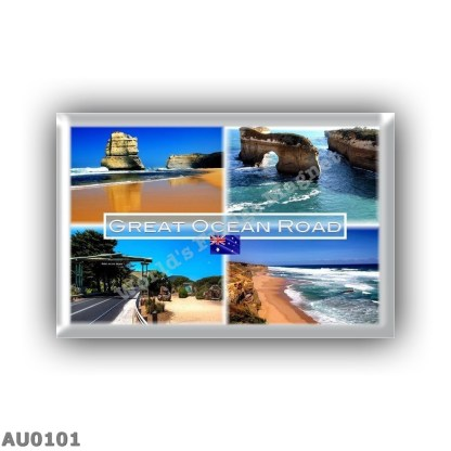 AU0101 Oceania - Australia - Great Ocean Road - Highways - Port Campbell National Park - Elephant Rock - Great Ocean Road memorial arch at Eastern View - Panorama