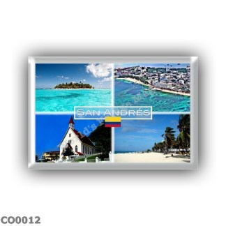 CO0012 America - Colombia - San Andres - Johnny Cay - Panorama - San Louis Church
