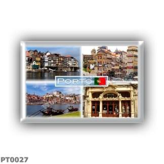 PT0027 Europe - Portugal - Ribeira - A Street in Porto - River Douro - Vila Nova de Gaia - Cafè Majestic
