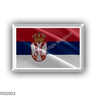 RS0002 Europe - Serbia - flag - waving