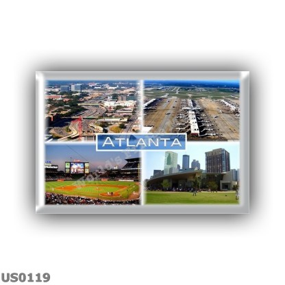US0119 America - Usa - Atlanta - Downtown connector - International Airport - Turner Field - Coca Cola in Atlanta