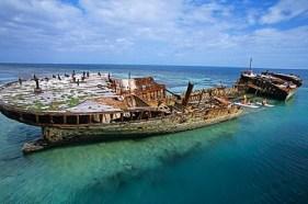 HMAS 'Protector' shipwreck, Heron Island, Barrier Reef, Queensland, Australien