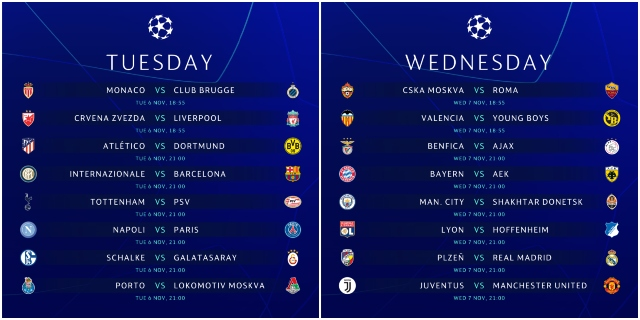 Uefa Champions League Time Schedule
