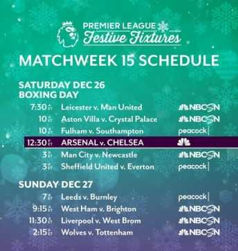 EPL commentator assignments on NBC Sports, Gameweek 15 - World Soccer Talk