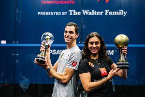 Farag and El Sherbini are 2020-21 PSA World Champions