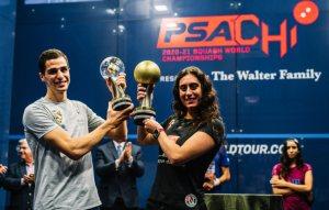 2021 FINALS : Sherbini & Farag Lift Trophies