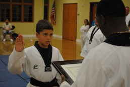 Black Belt ceremony 2010