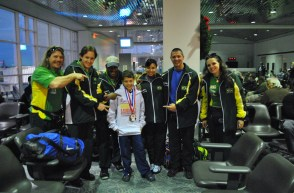 With Brazilian National Powerlifting Team, 2009 World Championships, Myrtle Beach, South Carolina