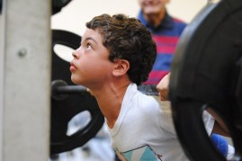 Squatting - age 11
