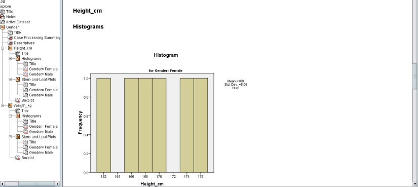 histogram-ouput-of-height