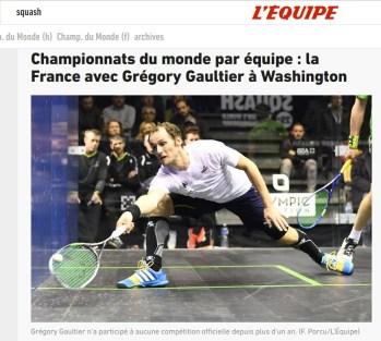 La France avec Grégory Gaultier – l'Equipe