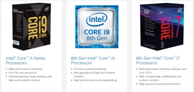 Intel 7th 8th x series i7 i9 processors