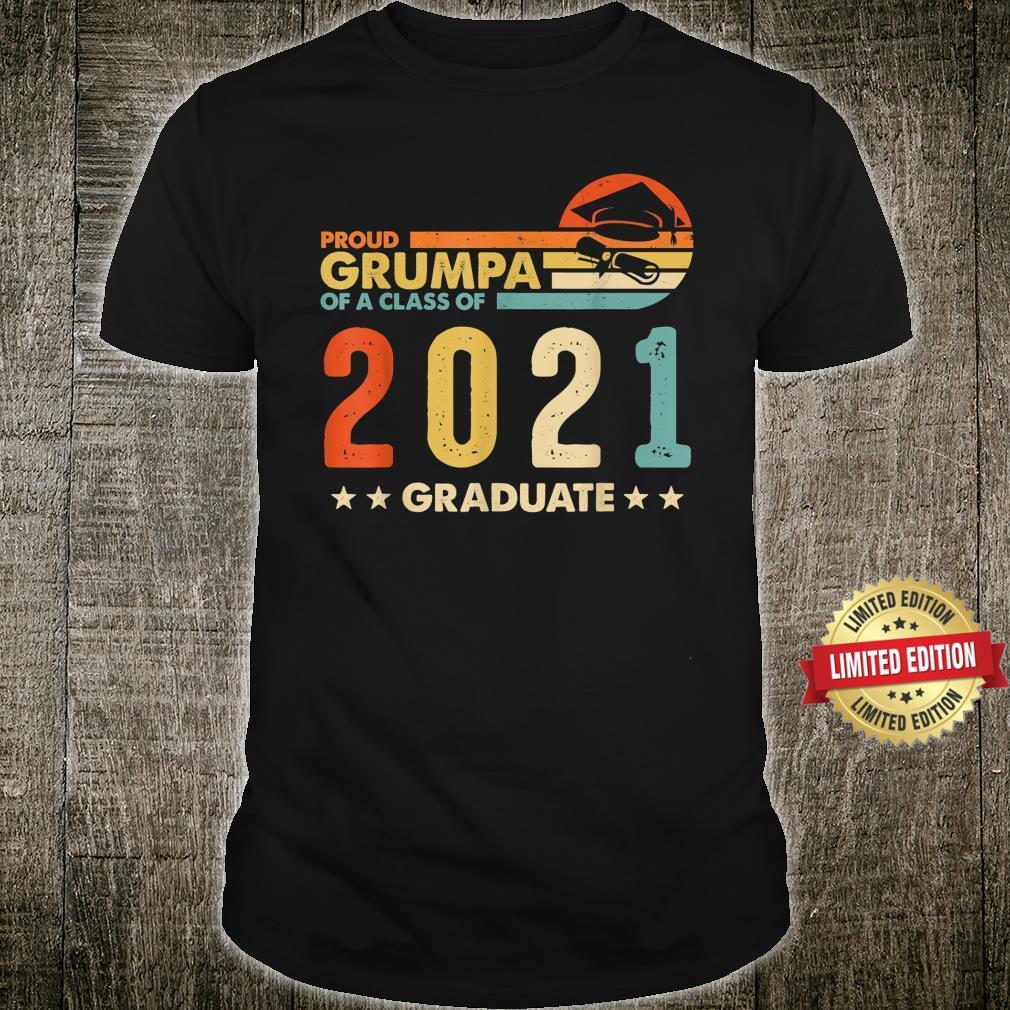 Mens Proud Grumpa Of A Class 2021 Graduate Shirt Vintage Shirt