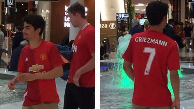 4202362e5 Manchester United Fans Already Buying Griezmann No. 7 Shirts - World ...