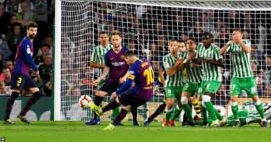Superb Messi Hat-trick Sees Off Betis Against Barcelona