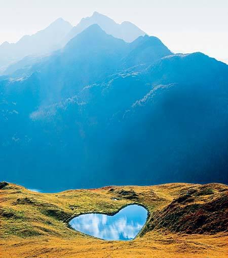 Heart-Shaped Lake - Swiss Alps