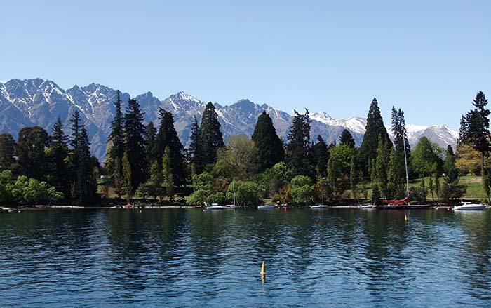 Lake Wakatipu outside Queenstown, New Zealand