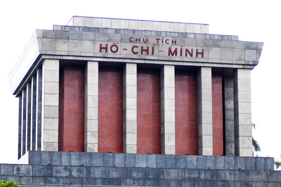 The monument to Ho Chi Minh in Hanoi Vietnam