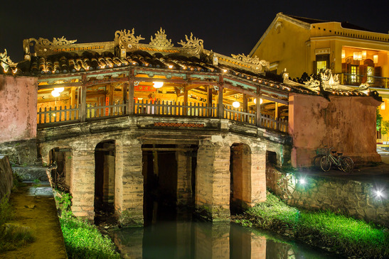 The Japanese bridge in the old quarter of Hoi An, Vietnam