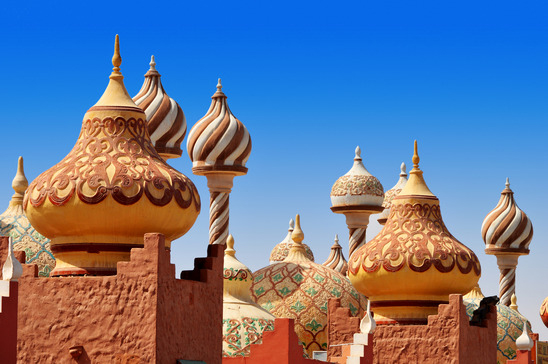 Traditional Arabic architecture in Sharm El Sheikh Egypt