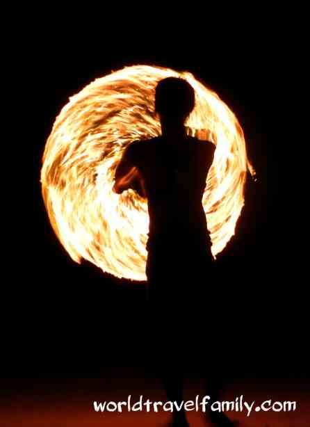 Ko Samet fire twirler